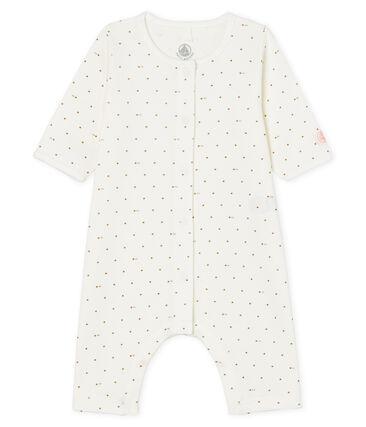 Babies' Footless Ribbed Sleepsuit Marshmallow white / Gretel pink