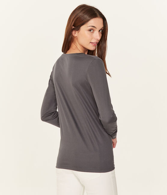 Women's long-sleeved sea island cotton t-shirt MAKI