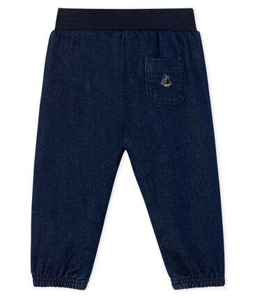 Baby Girls' Denim Look Trousers Jean blue
