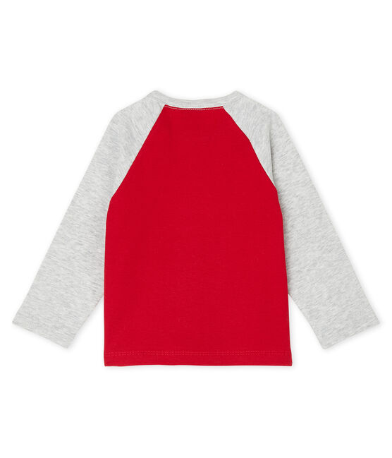 Baby Boys' Long-Sleeved T-Shirt Terkuit red / Beluga grey