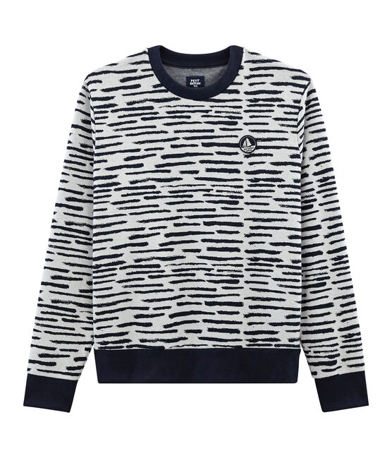 Sweatshirt in Collaboration with Jean Jullien MARSHMALLOW/DASH CN