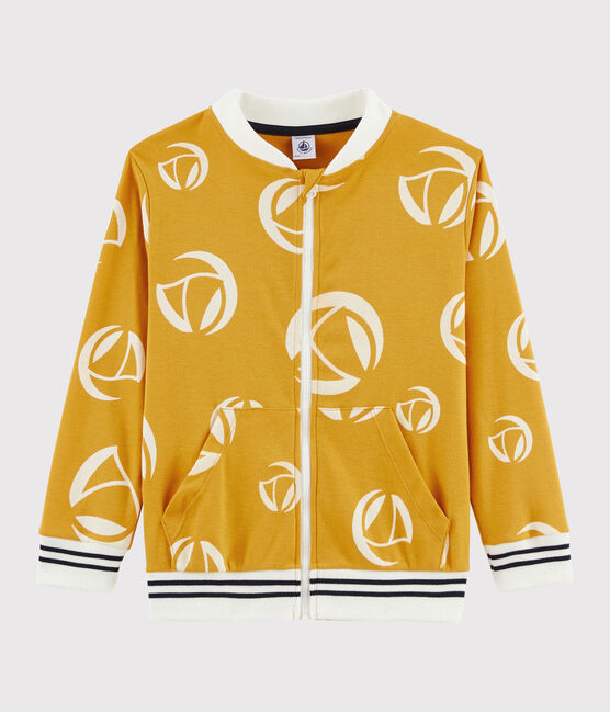 Boys' Zipped Sweatshirt Boudor yellow / Marshmallow white