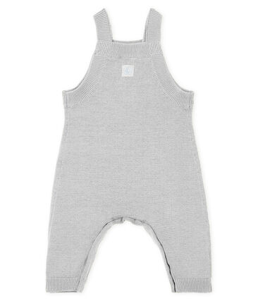 Baby Boys' Long Dungarees in Wool/Nylon/Alpaca Knit