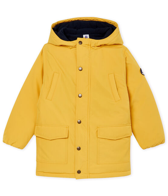 Boys' Feather and Down Coat Ocre yellow
