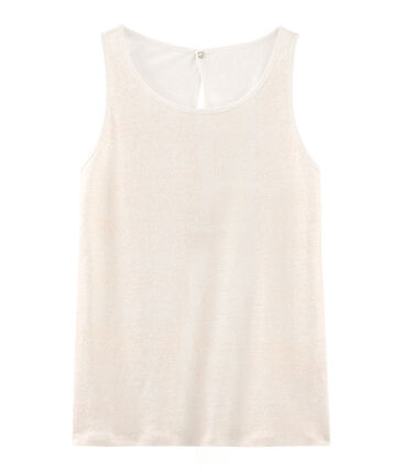 Women's iridescent linen sleeveless top