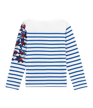 Girls' Creative Striped Top