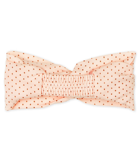Hair band for baby girls Fleur pink / Copper pink