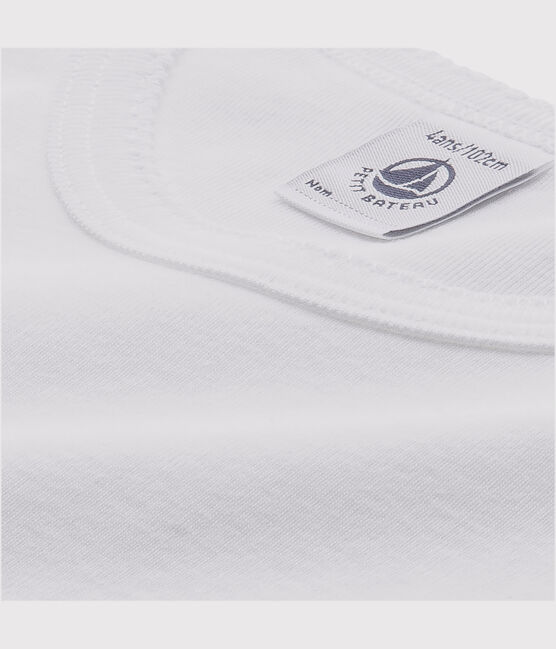 Set of 2 little girls' long-sleeved white t-shirts . set