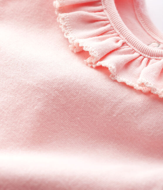 Baby girl's long-sleeved bodysuit Minois pink