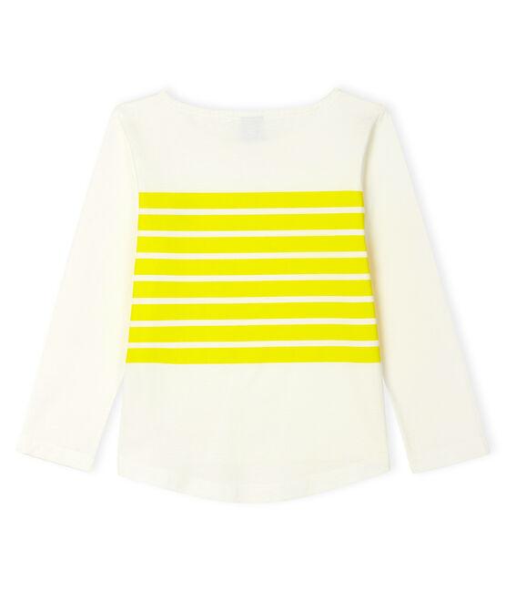 Girls' T-Shirt Marshmallow white / Eblouis yellow