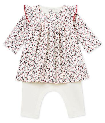 Baby girls' long-sleeved dress and leggings