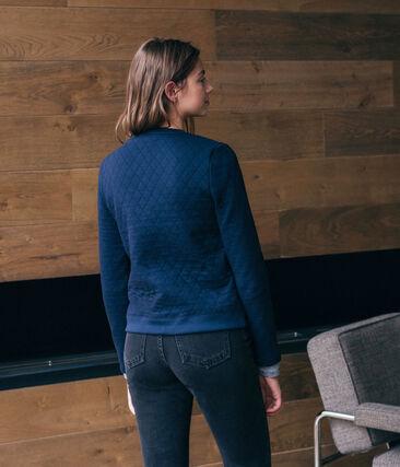 Women's Tube Knit Cardigan Smoking blue