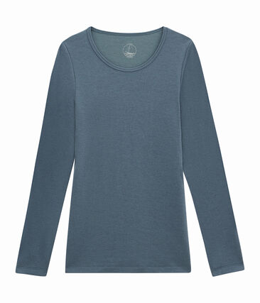 women's long sleeved t-shirt Turquin blue