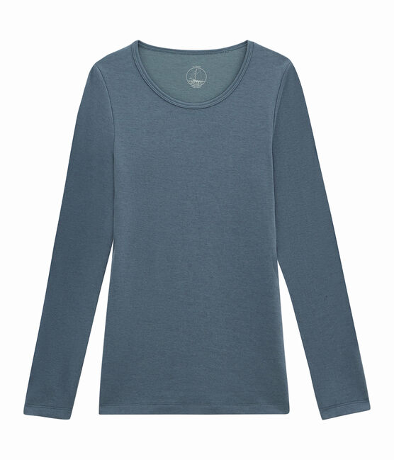 women's long sleeved t-shirt Turquin blue