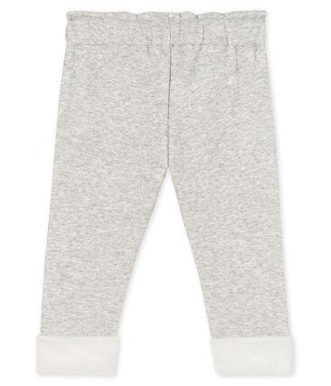 Baby Girls' Velour Knit Trousers Beluga grey