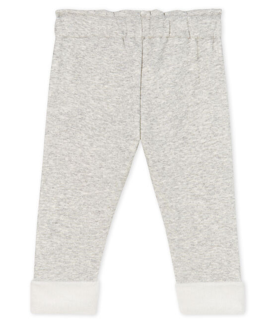 Baby Girls' Velour Knit Trousers Beluga grey