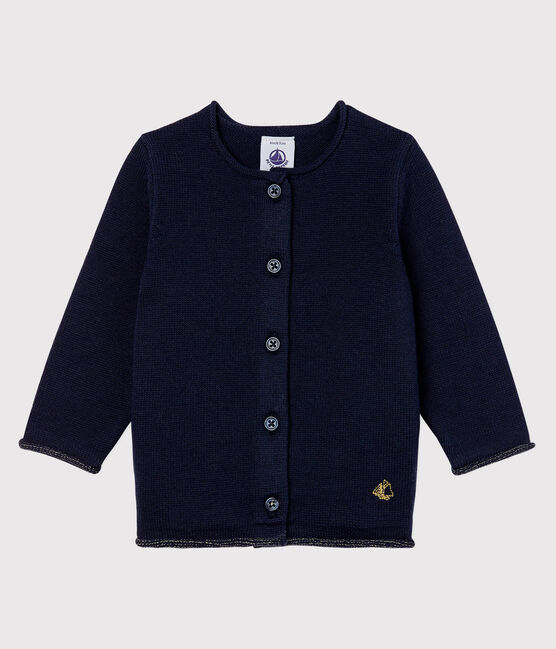 Baby girl's long-sleeved cardigan Smoking blue