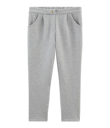 Girls' Knit Trousers Subway grey