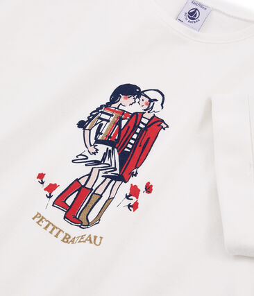 Girls' Short-Sleeved T-Shirt Marshmallow white