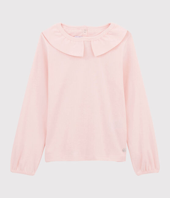Girls' Collared T-shirt Minois pink