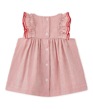 Baby girls' striped poplin dress