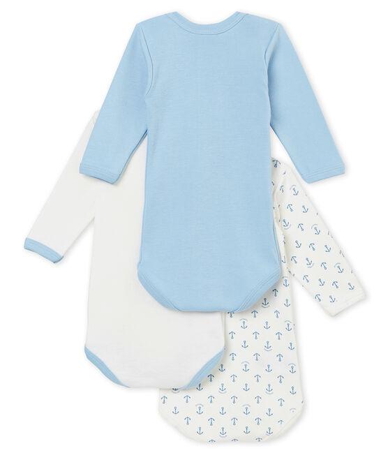 Baby boy's long sleeved body trio . set