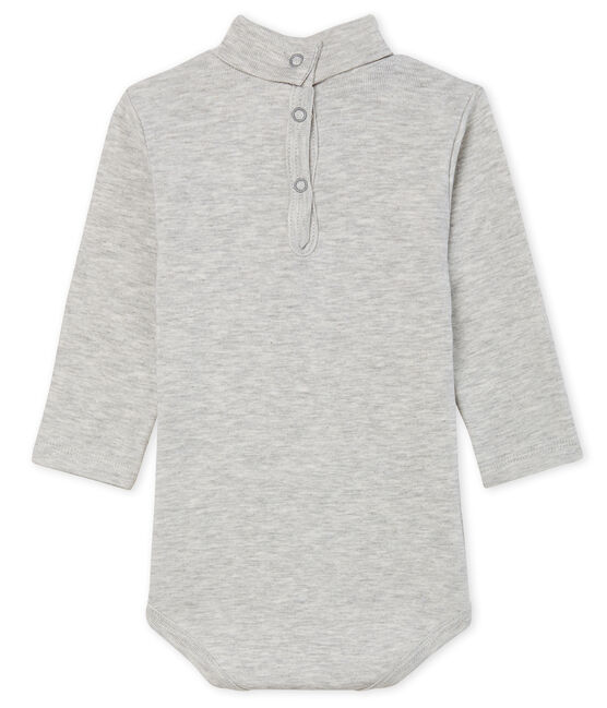 Unisex Babies' Long-Sleeved Roll-Neck Bodysuit Beluga grey