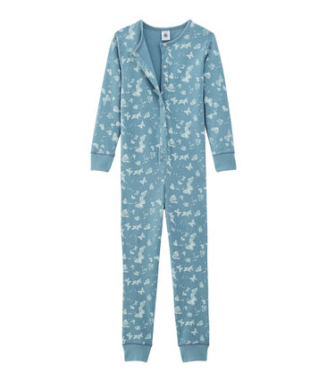 Girls' Long all-in-one in Cotton