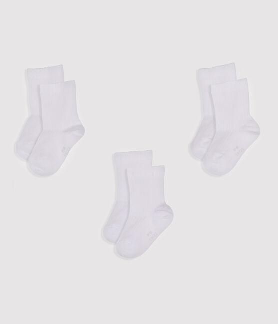 Set of 3 pairs of socks Ecume white