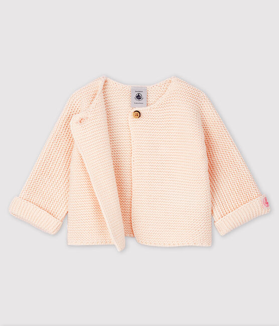 Babies' Cardigan Made Of 100% Cotton Knit FLEUR
