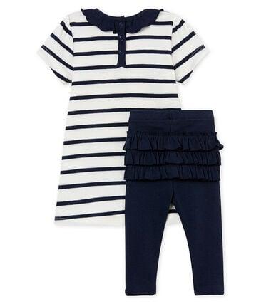 Baby girls' striped dress and leggings