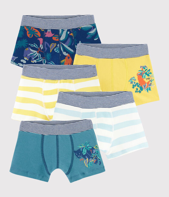 Boys' Jungle Print Boxer Shorts - 5-Piece Set . set