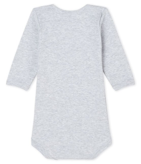 Baby boys-girls' long-sleeved bodysuit Poussiere Chine grey