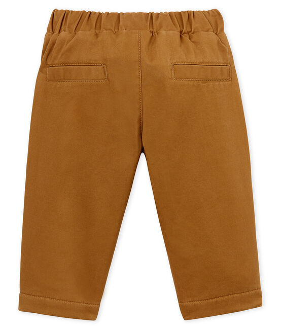 Baby Boys' Fleece-Lined Trousers Brindille brown