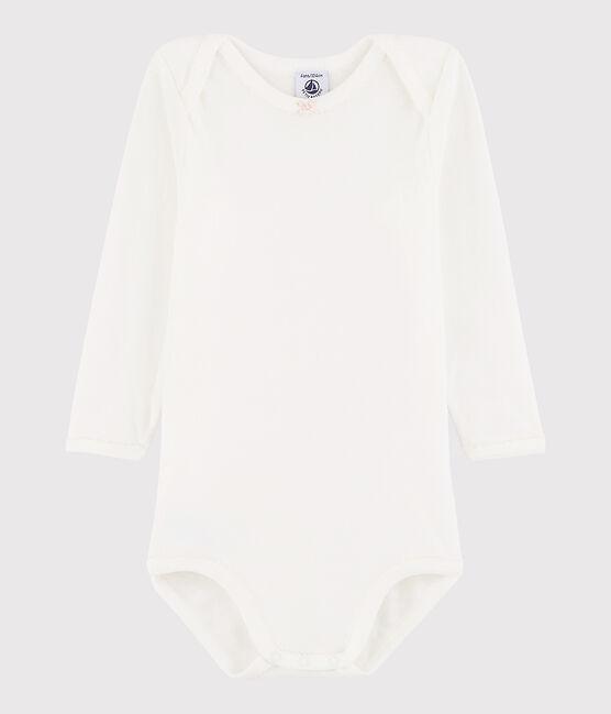 Baby Girls' Long-Sleeved Bodysuit Marshmallow white / Minois pink