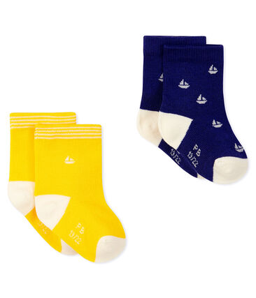 Set of 2 pairs of socks for baby boys Touareg blue