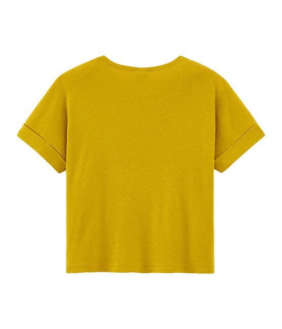 Girls' Short-sleeved T-shirt Bamboo yellow