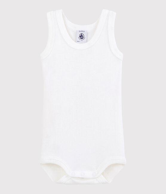 Unisex Babies' Sleeveless Bodysuit Ecume white