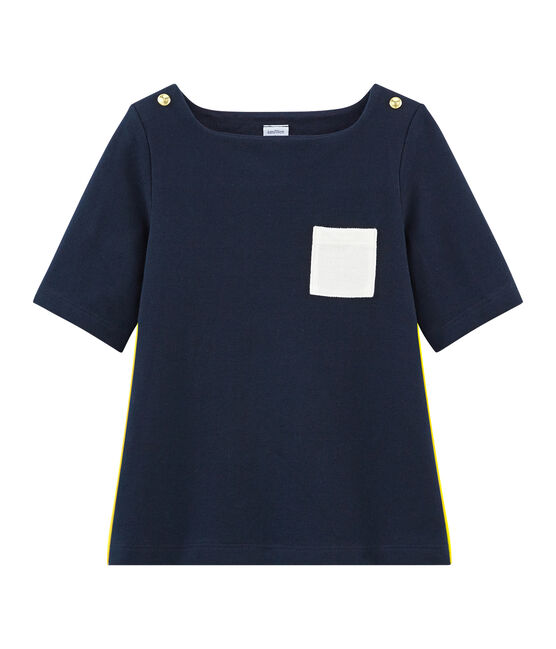 Girls' 3/4 Sleeves T-shirt Smoking blue