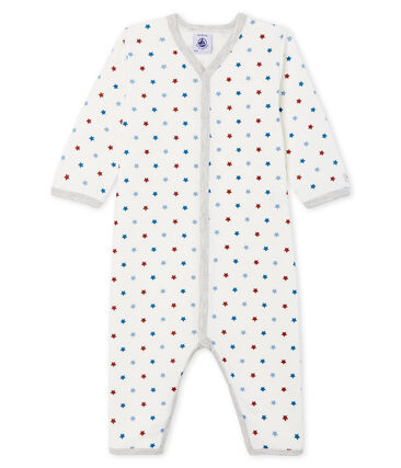Baby Boys' Footless Tube Knit Sleepsuit Marshmallow white / Multico Cn white
