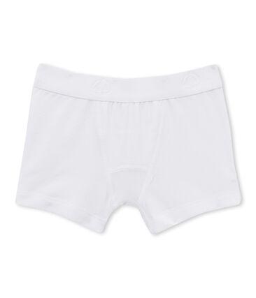 Plain boy's boxers Ecume white