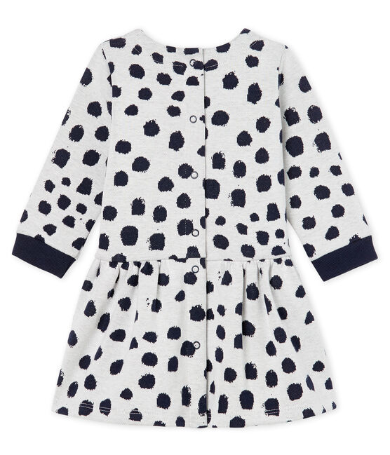 Baby Girls' Long-Sleeved Dress by Jean Jullien MARSHMALLOW/DOTTIES CN