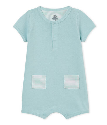 Baby boys' playsuit made of cotton/linen blend