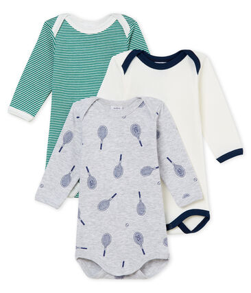 Baby Boys' Long-Sleeved Bodysuit - Set of 3