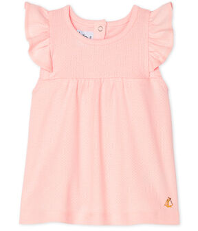 Baby Girls' Short-Sleeved Plain Blouse MINOIS