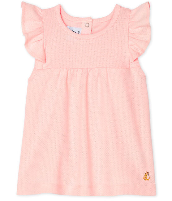 Baby Girls' Short-Sleeved Plain Blouse Minois pink