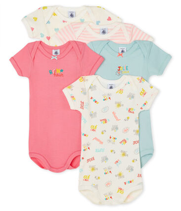 Baby Girls' Short-Sleeved Bodysuit - 5-Piece Set . set