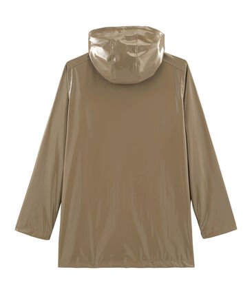 Women's glossy Raincoat Noisette brown