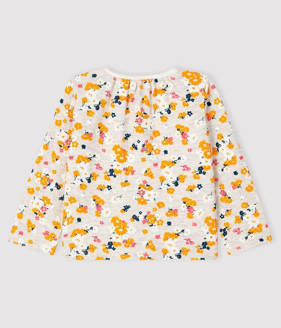 Baby girl's tubular knit cardigan Montelimar beige / Multico white