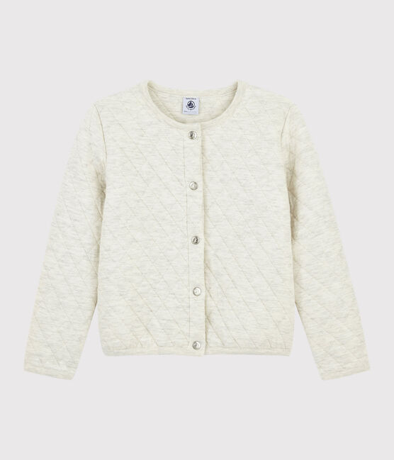 Girls' Tubular Knit Cardigan Montelimar Chine grey